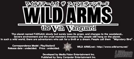 Wild Arms 5 ya está en camino a los Estados Unidos