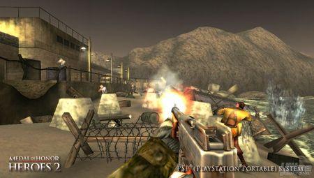 La versión para PSP de Medal of Honor Heroes 2, nos muestra su espectacular aspecto