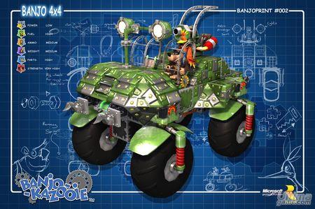 Microsoft filtra el aspecto de lo que será la tercera entrega de la saga Banjo Kazooie en Xbox 360