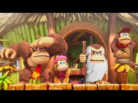 Algunos de los desafíos más emocionantes de Donkey Kong Country: Tropical Freeze, en un vídeo pre-lanzamiento
