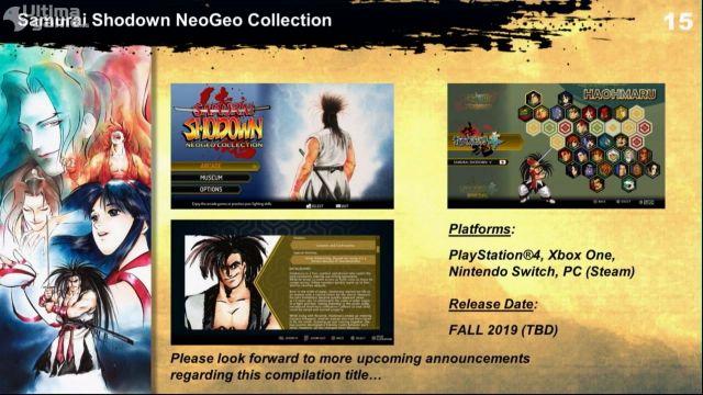 Más juegos de lucha en 2D para nostálgicos en las consolas actuales - Noticia para Samurai Shodown NeoGeo Collection