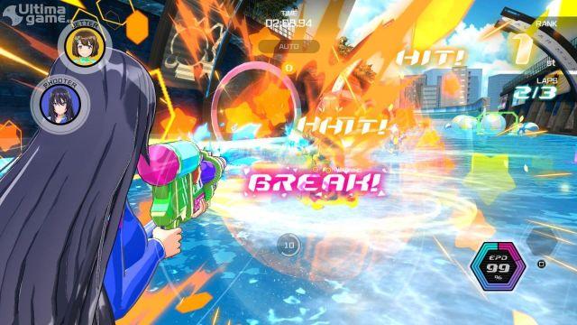 Motos acuáticas, shooter en tercera persona y personajes manga en una combinación de juego de acción y carreras