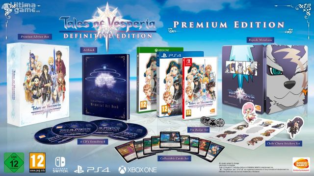 Así es la edición Premium de Tales of Vesperia Definitive Edition